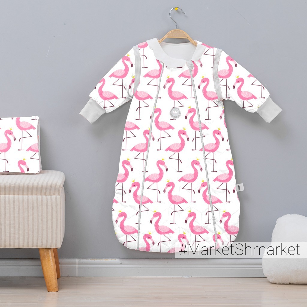 Розовые фламинго на белом