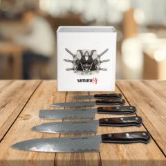 Набор из 5 кухонных ножей Samura KAIJU и подставки KBH-101S1