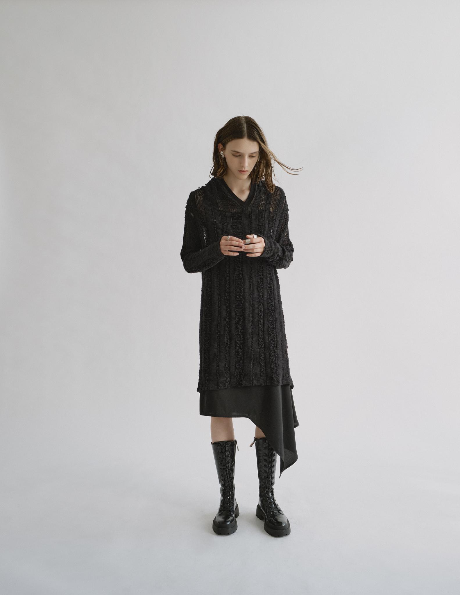 Платье трикотажное TEXTURE
