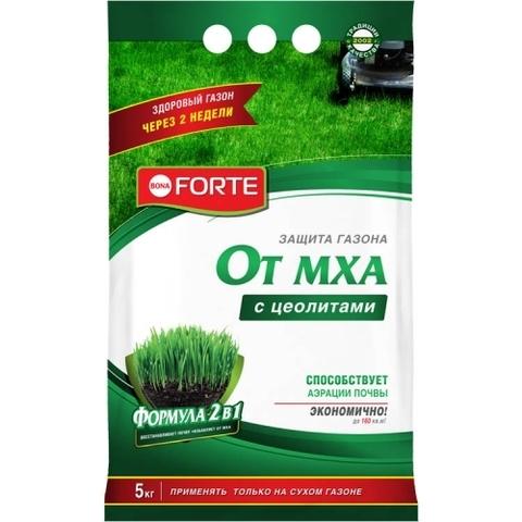 Bona Forte удобрение газонное весна-лето с защитой от мха 5кг