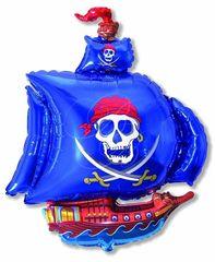 F Мини-фигура Пиратский корабль (синий), 14