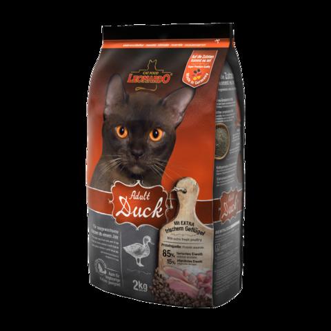 Leonardo Adult Duck Сухой корм для кошек для облегчения вывода шерсти из желудка c уткой с рисом