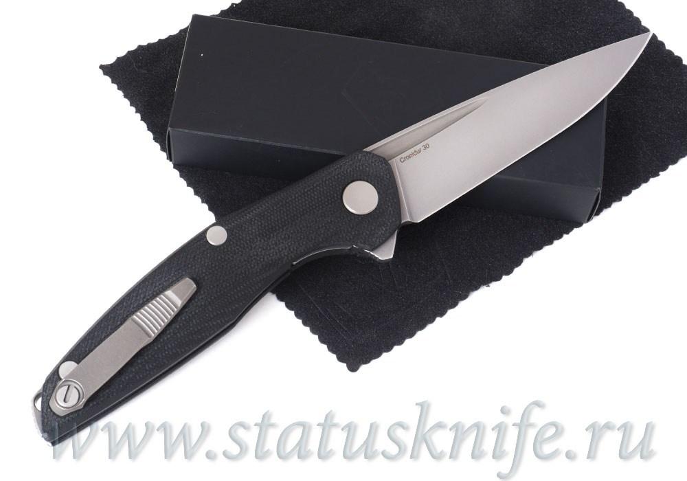 Нож Широгоров 111 Cronidur30 Долы G10 черная MRBS - фотография