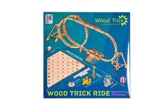 Большие Американские горки от Wood Trick - cборная модель, деревянный конструктор, 3D пазл