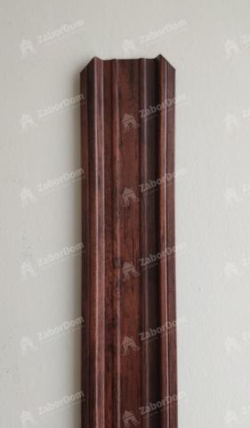Евроштакетник металлический 85 мм Красный каштан П - образный двусторонний 0.5 мм