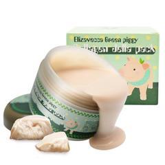 Распродано - Высококонцентрированная желейная лифтинг маска для лица с коллагеном Elizavecca Green Piggy Collagen Jella Pack, 100 мл