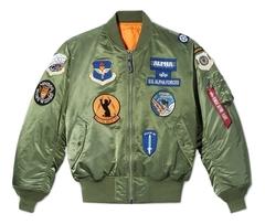 Бомбер Alpha Industries MA-1 Squadron (Зеленый)