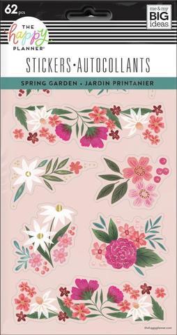 Блокнот со стикерами для ежедневника Spring Florals - 5 Sticker Sheets -62 шт