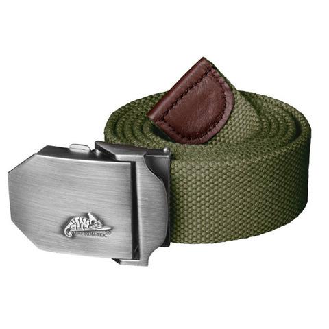 Ремень брючный Helikon Logo Belt Polyester, olive green