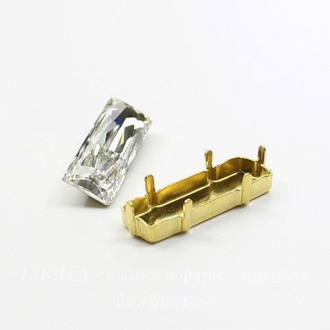 4547/S Сеттинг - основа Сваровски для страза 24х8 мм (цвет - латунь)