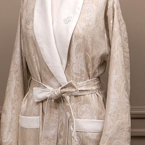 EMPERIUM махровый женский халат кремовый Tivolyo Home Турция