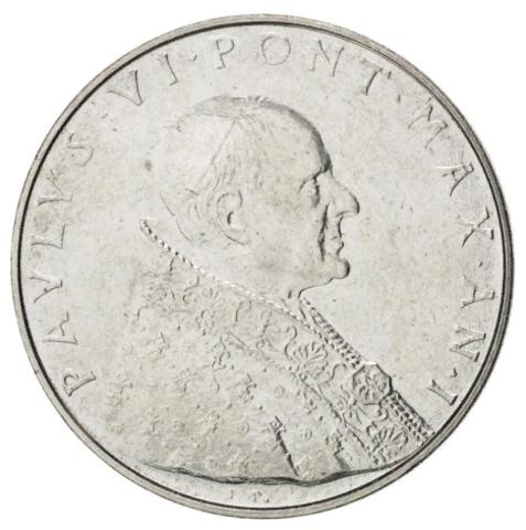 50 лир 1963 год, Ватикан. aUNC
