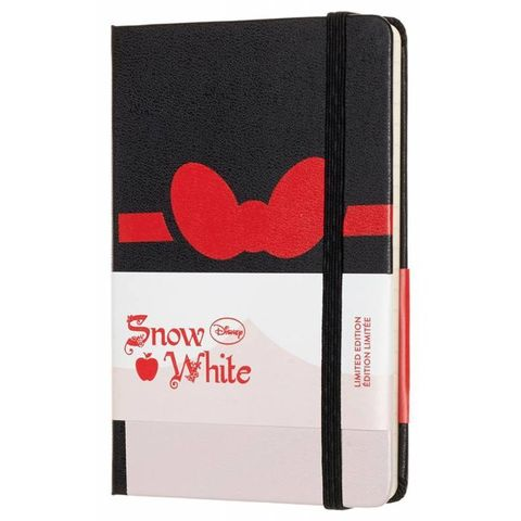 Блокнот Moleskine Limited Edition SNOW WHITE LESNMM710BW Pocket 90x140мм 192стр. линейка Bow (Бант)