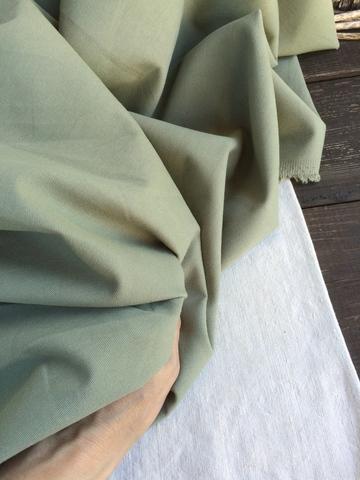 Хлопок деним 100%, цвет Зеленый