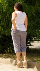 Бетти. Стильные брюки плюс сайз. Лапка.
