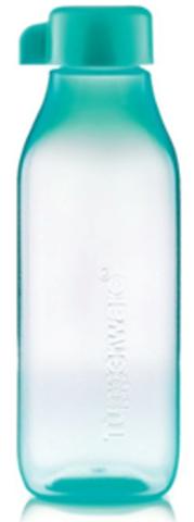 Эко бутылка квадратная в голубом цвете 500мл