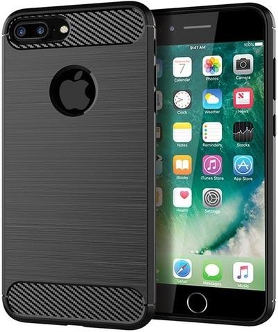 Чехол для iPhone 8 Plus цвет Black (черный), серия Carbon от Caseport