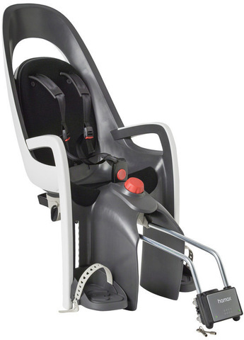 Картинка велокресло Hamax Caress с замком серый/белый/черный - 1