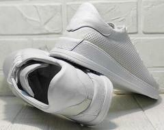 Удобные кроссовки кеды женские белые Evromoda 141-1511 White Leather.