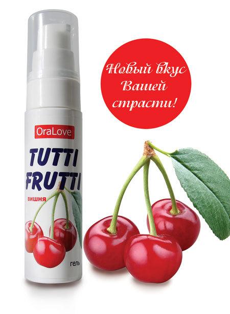 Гель-смазка Tutti-frutti с вишнёвым вкусом - 30 гр.