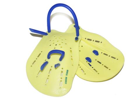 Лопатки для плавания SWIM TEAM. Размер М. S-HS-M.  Состав: пластмасса, силикон.