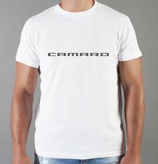 Футболка с принтом Шевроле, Камаро (Chevrolet, Camaro) белая 007