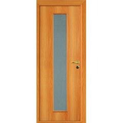 ОЛОВИ Дверное полотно ответная часть со стеклом миланский орех 600х2000мм L2 с фурнитурой