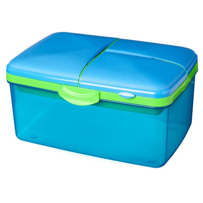 """Ланч-бокс с бутылкой Sistema """"Lunch"""", 4 секции, 2 л, цвет Голубой"""