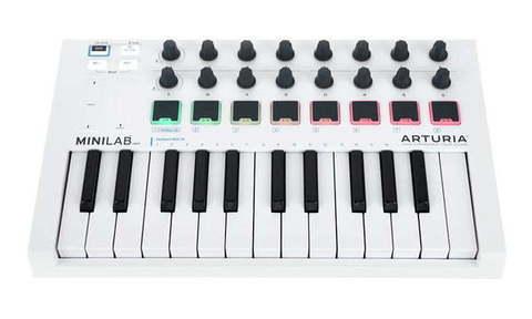 Arturia MiniLab MKII White MIDI-клавиатура/Контроллер