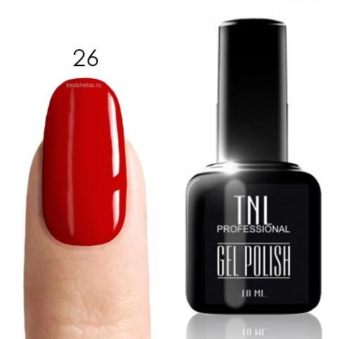 TNL Classic TNL, Гель-лак № 026 - карминово-красный (10 мл) 26.jpg