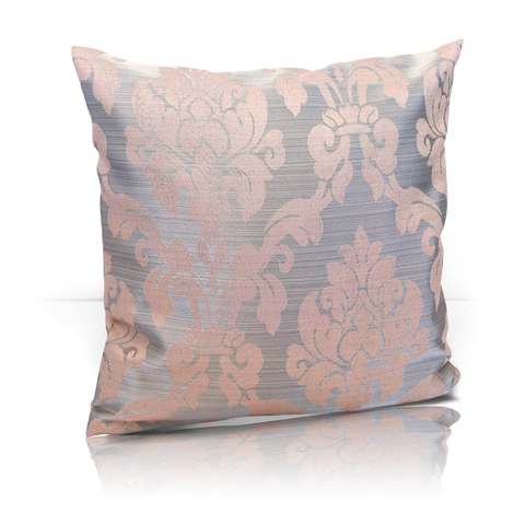 Подушка декоративная Афина жаккард розовый