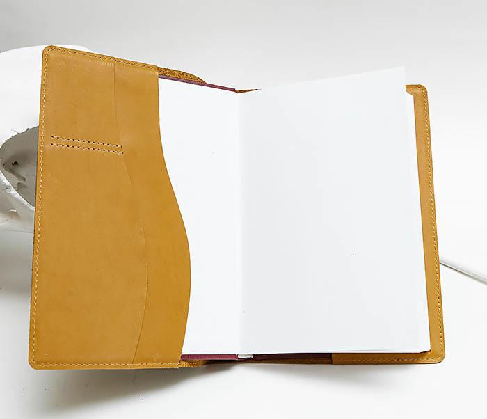 BY051901 Кожаный ежедневник «Ежедневник» со сменным блоком (А5) фото 04