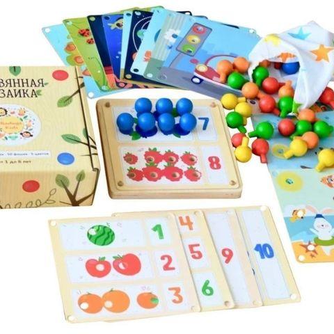 Мозаика деревянная 19 карточек, RadugaKids (Радуга Кидс)