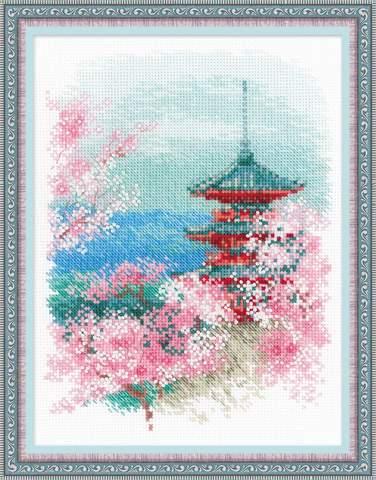 Набор для вышивания крестом «Сакура. Пагода» (1743)