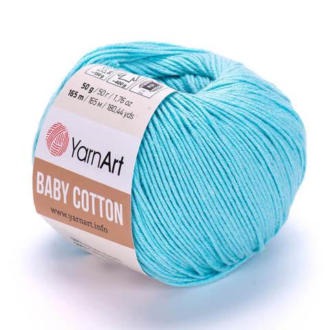 Пряжа Baby Cotton (Бэби Котон) Бирюзовый. Артикул: 446