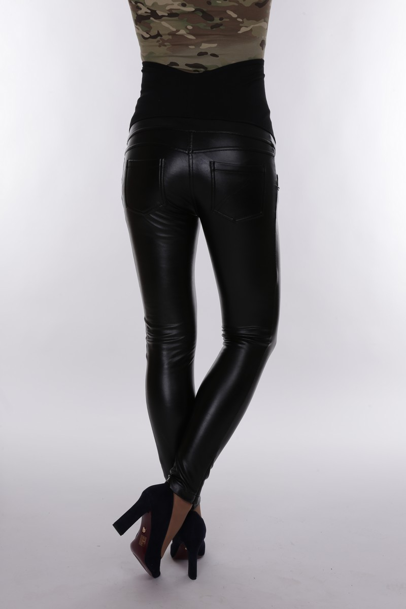Утепленные брюки для беременных 09177 черный