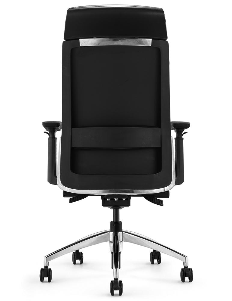 Кресло руководителя Andico HB черная кожа - вид 4