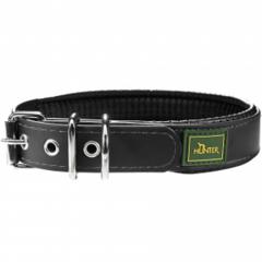 Ошейник для собак, Hunter Convenience Comfort 65 (52-60 см)/2,5 см, биотановый с мягкой горловиной водоотталкивающий материал, черный
