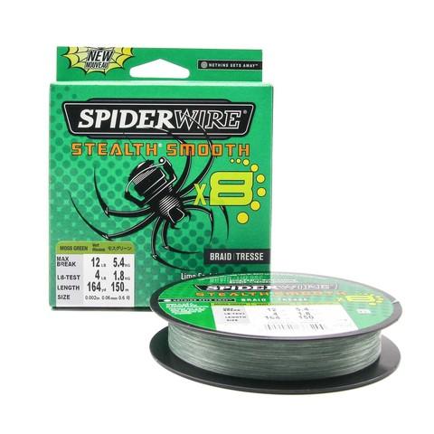 Плетеная леска Spiderwire Stealth Smooth 8 Braid Темно-зеленая 150 м. 0,06 мм. 5,4 кг.