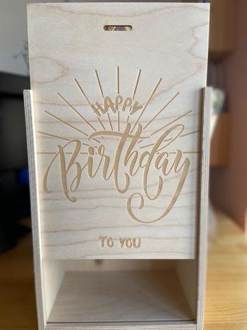Ящик подарочный деревянный Happy birthday, 20×30×12см
