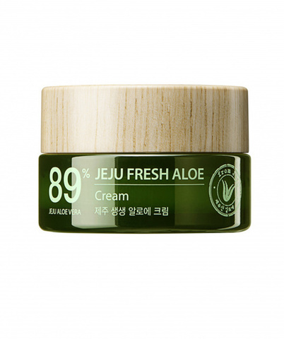 Крем для лица с алоэ The Saem Jeju Fresh Aloe Cream