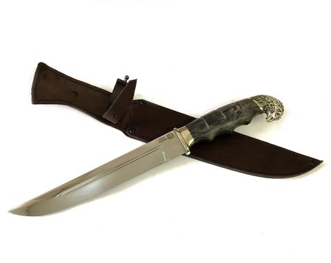 Пластунский нож с навершием, 95Х18, стабилизированная карельская береза