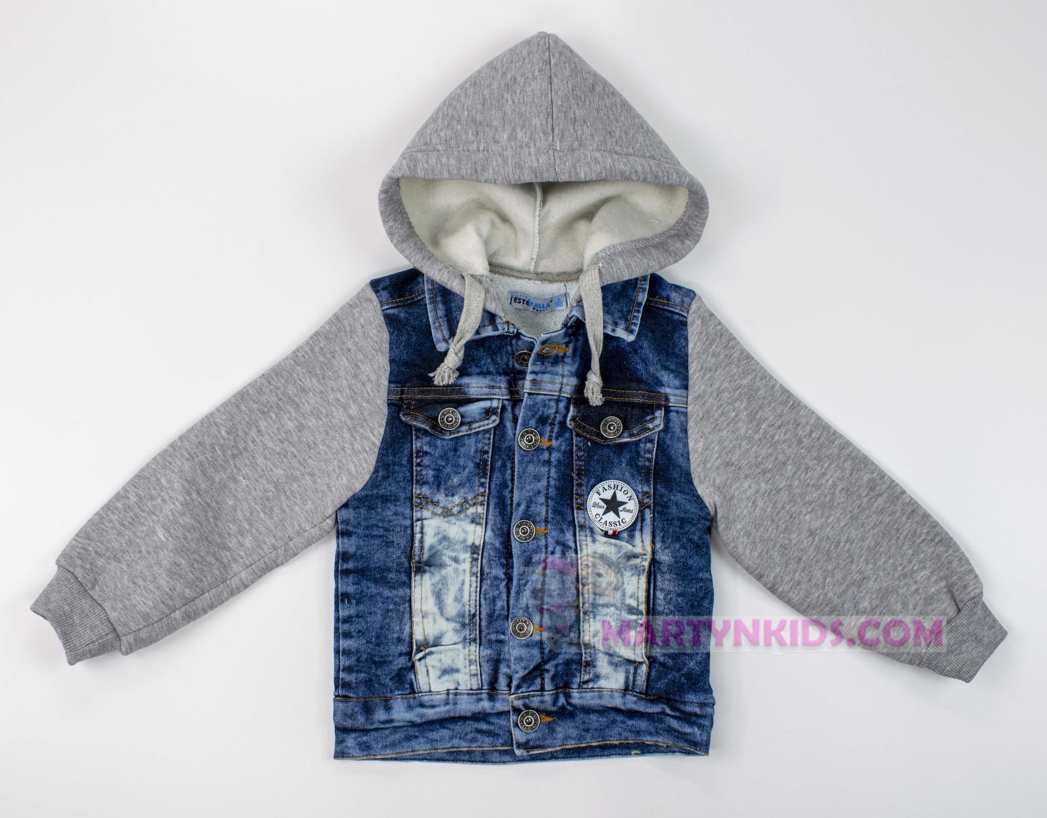 3641 куртка джинсовая комбинированная утепленная Звезда