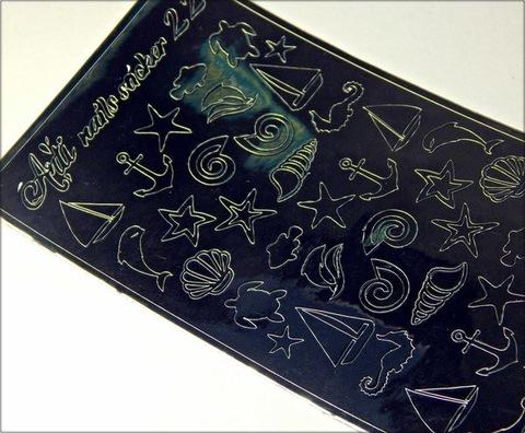 Металлизированные наклейки Arti nails Stiker цвет серебро №22 купить за 100руб