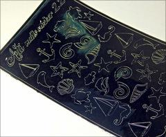 Металлизированные наклейки Arti nails Stiker цвет серебро №22