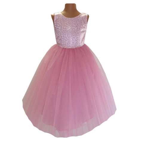 Платье длинное розовое