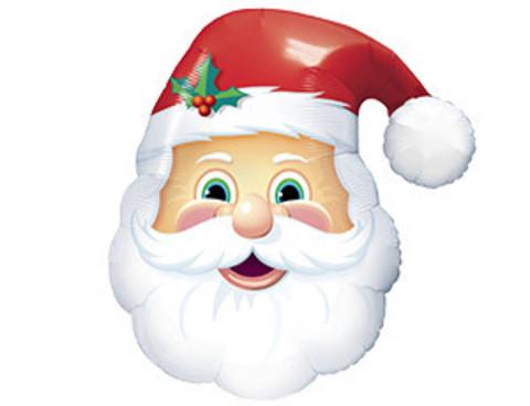 Фольгированный шар Санта голова