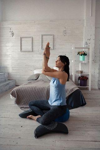 Подушка для медитации джинсовый Хэмп