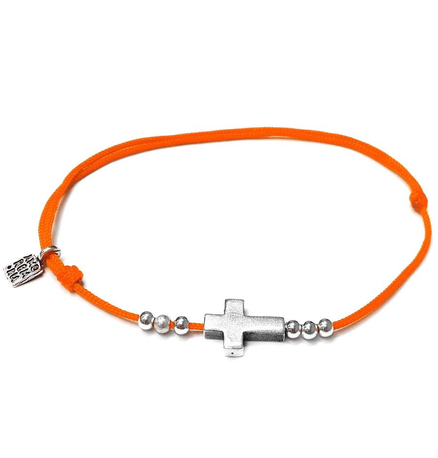 Small Cross bracelet, sterling silver