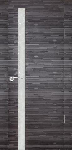 Дверь Прато Техно (чёрное дерево, остекленная шпонированная), фабрика Ростра